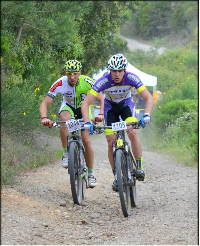 Luca in gara in mountain bike