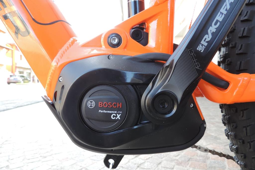 """il nuovo motore della Bosch """"Performance line cx""""montato nella sua culla predisposta"""