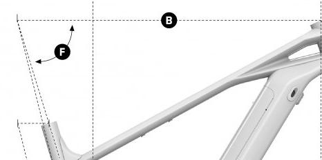 lunghezza del tubo superiore della bici elettrica Crafty R della Mondraker