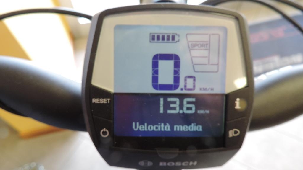 visualizzaizone della velocità media sul display di Intuvia Bosch