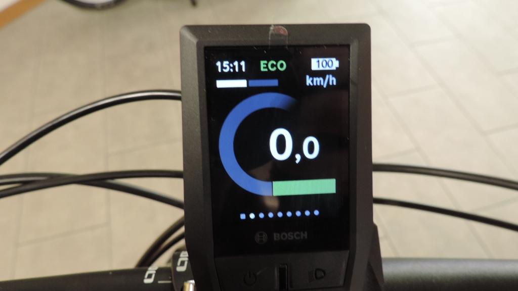 schermata dell'assistenza in atto sul ciclocomputer Kyox della Bosch