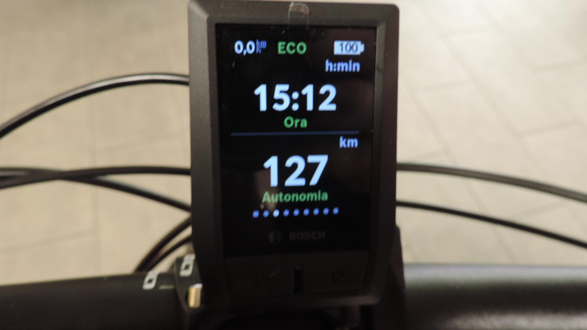 terza schermatata con il ciclocomputer Kyox della Bosch