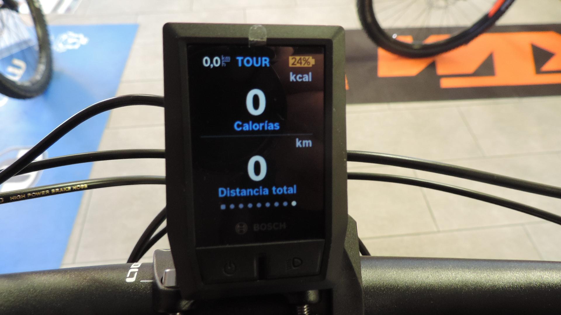 non schermata del cpmputer per bici elettrica bosch. Visualizza le calorie consumate e la distanza totale (ODO)