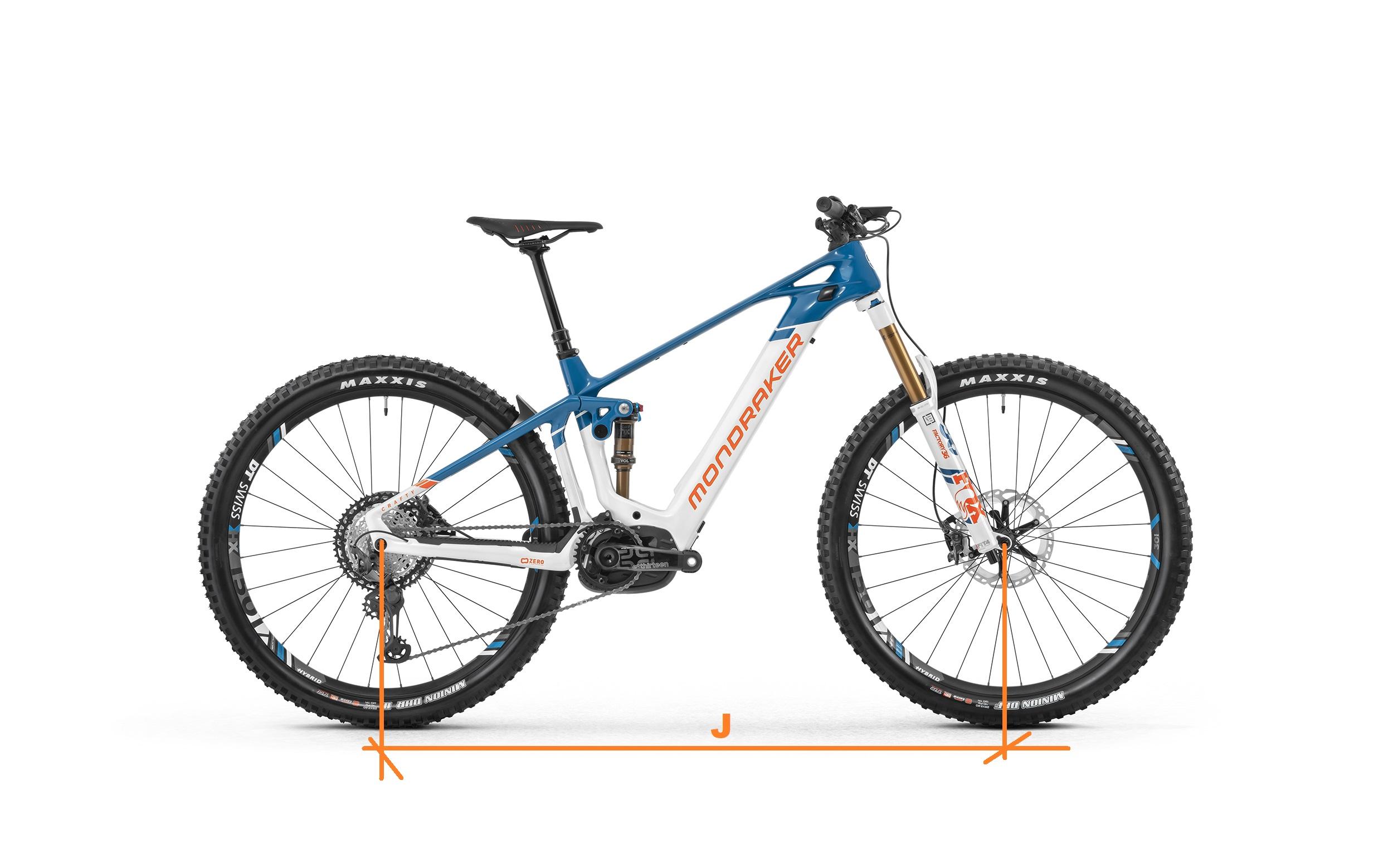 interasse bici elettrica Mondraker crafty carbon RR