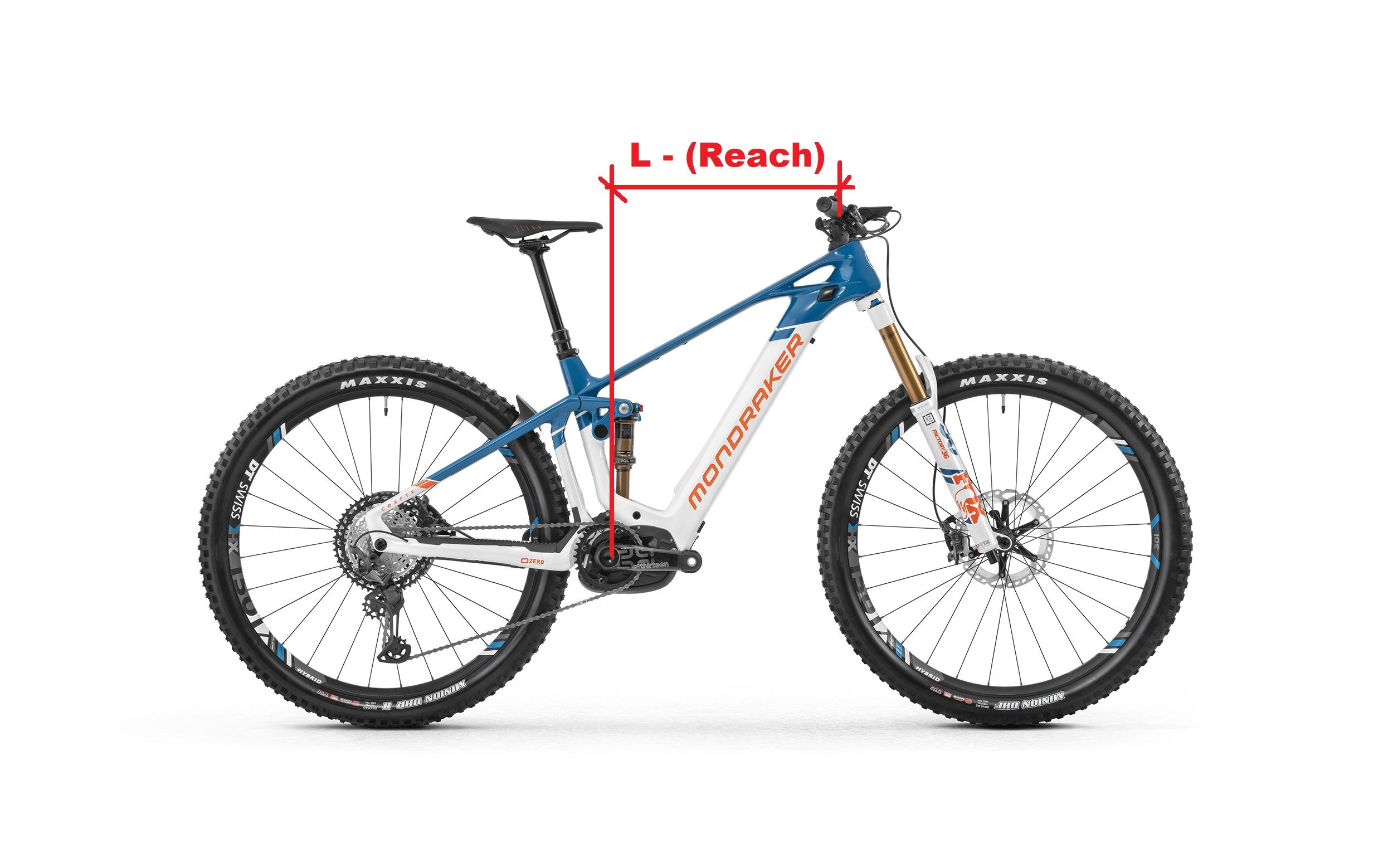 bici elettrica crafty RR carbon Mondraker il suo reach